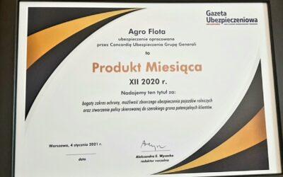 Ubezpieczenie Agro Flota Concordii nagrodzone przez Gazetę Ubezpieczeniową